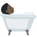 Person Taking Bath: Dark Skin Tone on Facebook 2.2