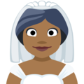 Bride With Veil: Medium-Dark Skin Tone on Facebook 2.2