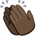 Clapping Hands: Dark Skin Tone on Facebook 2.2