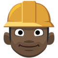 Construction Worker: Dark Skin Tone on Facebook 2.2