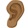 Ear: Medium-Dark Skin Tone on Facebook 2.2