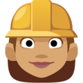 Woman Construction Worker: Medium Skin Tone on Facebook 2.2