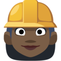 Woman Construction Worker: Dark Skin Tone on Facebook 2.2