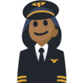 Woman Pilot: Medium-Dark Skin Tone on Facebook 2.2