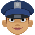 Woman Police Officer: Medium Skin Tone on Facebook 2.2