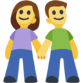 Man and Woman Holding Hands on Facebook 2.2