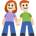 Man and Woman Holding Hands, Type-1-2 on Facebook 2.2
