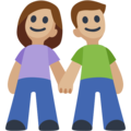 Man and Woman Holding Hands, Type-3 on Facebook 2.2