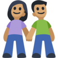 Man and Woman Holding Hands, Type-4 on Facebook 2.2