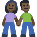 Man and Woman Holding Hands, Type-6 on Facebook 2.2