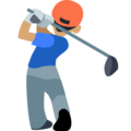 Man Golfing: Medium Skin Tone on Facebook 2.2