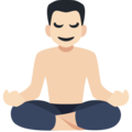Man in Lotus Position: Light Skin Tone on Facebook 2.2