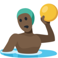 Man Playing Water Polo: Dark Skin Tone on Facebook 2.2