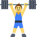 Man Lifting Weights on Facebook 2.2