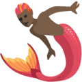 Merman: Dark Skin Tone on Facebook 2.2