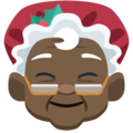 Mrs. Claus: Dark Skin Tone on Facebook 2.2