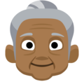 Old Woman: Medium-Dark Skin Tone on Facebook 2.2