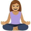 Person in Lotus Position: Medium Skin Tone on Facebook 2.2