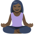 Person in Lotus Position: Dark Skin Tone on Facebook 2.2