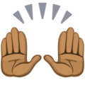 Raising Hands: Medium-Dark Skin Tone on Facebook 2.2