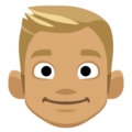 Blond-Haired Person: Medium Skin Tone on Facebook 2.2
