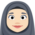 Person With Headscarf: Light Skin Tone on Facebook 2.2