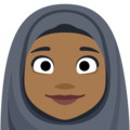 Person With Headscarf: Medium-Dark Skin Tone on Facebook 2.2