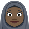 Person With Headscarf: Dark Skin Tone on Facebook 2.2