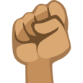 Raised Fist: Medium Skin Tone on Facebook 2.2