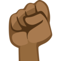 Raised Fist: Medium-Dark Skin Tone on Facebook 2.2