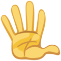 Raised Hand With Fingers Splayed on Facebook 2.2