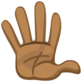 Hand With Fingers Splayed: Medium-Dark Skin Tone on Facebook 2.2