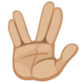 Vulcan Salute: Medium-Light Skin Tone on Facebook 2.2