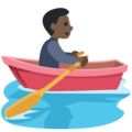 Person Rowing Boat: Dark Skin Tone on Facebook 2.2