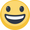 Smiling Face With Open Mouth on Facebook 2.2