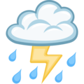 Cloud With Lightning and Rain on Facebook 2.2