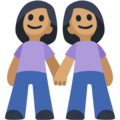 Two Women Holding Hands, Type-4 on Facebook 2.2