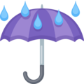 Umbrella With Rain Drops on Facebook 2.2