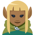 Woman Elf: Medium-Dark Skin Tone on Facebook 2.2