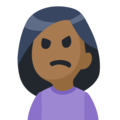 Woman Frowning: Medium-Dark Skin Tone on Facebook 2.2