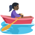 Woman Rowing Boat: Dark Skin Tone on Facebook 2.2