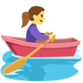 Woman Rowing Boat on Facebook 2.2