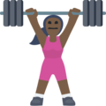 Woman Lifting Weights: Dark Skin Tone on Facebook 2.2
