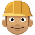 Construction Worker: Medium Skin Tone on Facebook 2.2.1