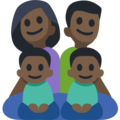 Family - Man: Dark Skin Tone, Woman: Dark Skin Tone, Boy: Dark Skin Tone, Boy: Dark Skin Tone on Facebook 2.2.1