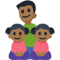 Family - Man: Medium-Dark Skin Tone, Girl: Medium-Dark Skin Tone, Girl: Medium-Dark Skin Tone on Facebook 2.2.1