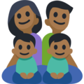 Family - Man: Medium-Dark Skin Tone, Woman: Medium-Dark Skin Tone, Boy: Medium-Dark Skin Tone, Boy: Medium-Dark Skin Tone on Facebook 2.2.1