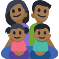 Family - Man: Medium-Dark Skin Tone, Woman: Medium-Dark Skin Tone, Girl: Medium-Dark Skin Tone, Boy: Medium-Dark Skin Tone on Facebook 2.2.1