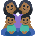 Family - Woman: Medium-Dark Skin Tone, Woman: Medium-Dark Skin Tone, Boy: Medium-Dark Skin Tone, Boy: Medium-Dark Skin Tone on Facebook 2.2.1