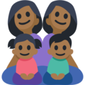 Family - Woman: Medium-Dark Skin Tone, Woman: Medium-Dark Skin Tone, Girl: Medium-Dark Skin Tone, Boy: Medium-Dark Skin Tone on Facebook 2.2.1
